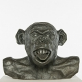 Chimp Busts HAM (Tongue) #2 Bronze, 2011