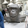 Chimp bust-bronze, Production, Meridian Gallery