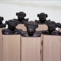 Political Ape, 2003, Bronze, Sound Component, Ply veneer, 200cm x150cm x100cm National Gallery Canberra,