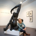 Portrait Lisa Roet  Bronze Sculpture, Spider Monkey