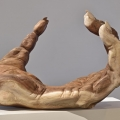 Gibbon hand, Carved Monkey Pod wood, 2014, 145cm x85cm